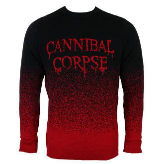 sveter pánsky CANNIBAL CORPSE - DRIPPING LOGO - PLASTIC HEAD, PLASTIC HEAD, Cannibal Corpse