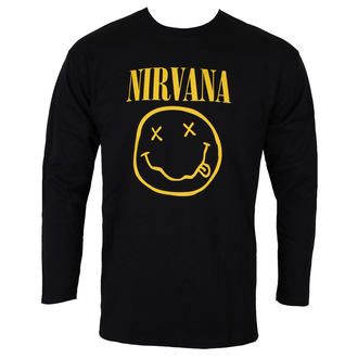 tričko pánske s dlhým rukávom NIRVANA - SMILEY LOGO - PLASTIC HEAD, PLASTIC HEAD, Nirvana