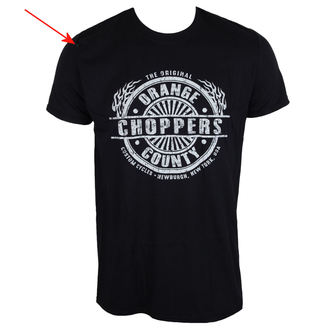 tričko pánske ORANGE COUNTY CHOPPERS - Circle Stamp - Black - POŠKODENÉ, ORANGE COUNTY CHOPPERS