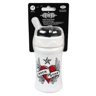 detská fľaša (340ml) ROCK STAR BABY - Heart & Wings, ROCK STAR BABY