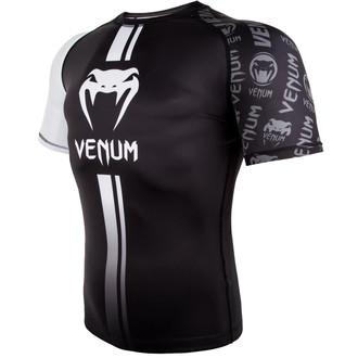 tričko pánske (termo) Venum - Logos Rashguard - Black/White, VENUM