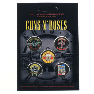 odznaky Guns N' Roses - Bullet Logo - RAZAMATAZ, RAZAMATAZ, Guns N' Roses