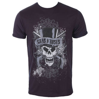 tričko pánske Guns N' Roses - Faded Skull - Navy / Red - ROCK OFF, ROCK OFF, Guns N' Roses