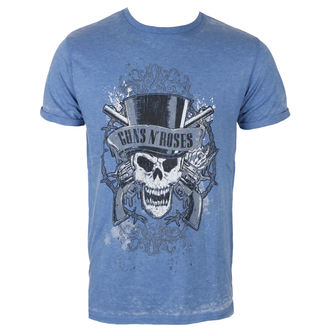 tričko pánske Guns N' Roses - Faded Skull - Mid Blue - ROCK OFF, ROCK OFF, Guns N' Roses