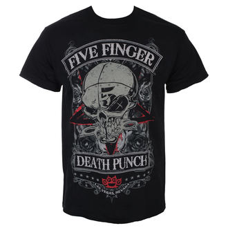 tričko pánske Five Finger Death Punch - Wicked - Black - ROCK OFF, ROCK OFF, Five Finger Death Punch