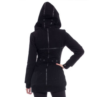 bunda dámska (kabátik) POIZEN INDUSTRIES - REAVER - BLACK - POŠKODENÁ, POIZEN INDUSTRIES