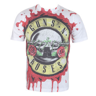 tričko pánske Guns N' Roses - Blood Drip - White - ROCK OFF, ROCK OFF, Guns N' Roses