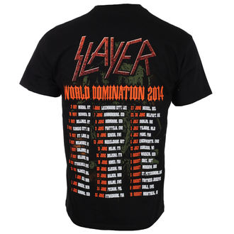tričko pánske SLAYER - SOLDIER CROSS 2014 DATEBACK - BLACK - ROCK OFF, ROCK OFF, Slayer