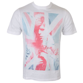 tričko pánske David Bowie - Union Jack and Sax Sublimation - White - ROCK OFF, ROCK OFF, David Bowie