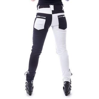 nohavice dámske VIXXSIN - ROCKSTAR - BLACK/WHITE, VIXXSIN
