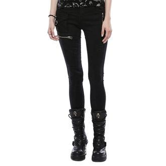 nohavice dámske (jeans) PUNK RAVE - Black Star, PUNK RAVE