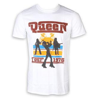 tričko pánske Queen - 76 Tour Silhouettes - White - ROCK OFF, ROCK OFF, Queen