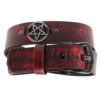 opasok Pentragram - red, JM LEATHER