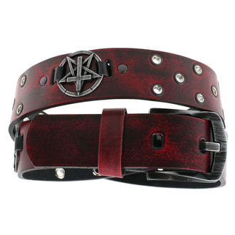 opasok Pentagram Cross - red, JM LEATHER
