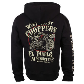 mikina pánska West Coast Choppers - EL DIABLO - Black, West Coast Choppers