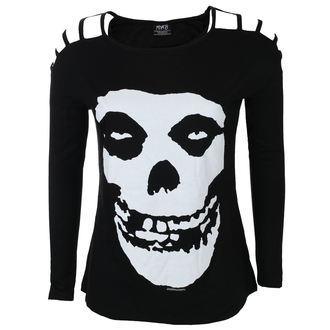 tričko dámske s dlhým rukávom MISFITS - SKULL - BLACK - LIVE NATION, LIVE NATION, Misfits