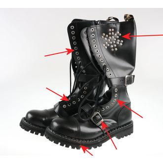 topánky STEEL - 20 dírkové Rivets Black - POŠKODENÉ, STEEL