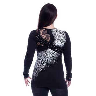 tričko dámske s dlhým rukávom VIXXSIN - SHADOW ANGEL - BLACK, VIXXSIN