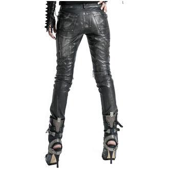 nohavice dámske PUNK RAVE - Therion - black/silver, PUNK RAVE