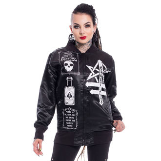 bunda dámska HEARTLESS - SIT WITH US VARSITY - BLACK, HEARTLESS