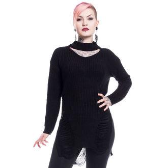 sveter dámsky Vixxsin - SLIT NECK DECAY - BLACK, VIXXSIN