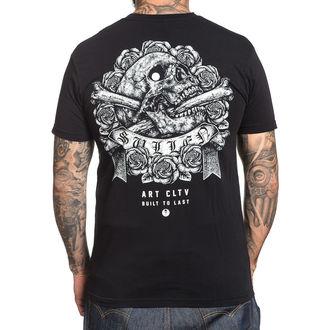 tričko pánske SULLEN - STIPPLE SKULL - BLACK, SULLEN
