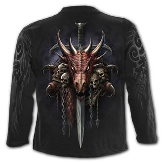 tričko pánske s dlhým rukávom SPIRAL - DRACO UNLEASHED - Black, SPIRAL