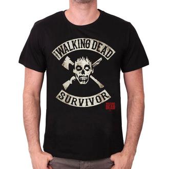 tričko pánske Walking Dead - SURVIVOR - BLACK - LEGEND - MEWALKDTS001