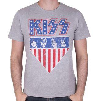tričko pánske KISS - AMERICAN STYLE - GREY - LEGEND, LEGEND, Kiss