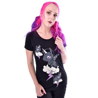 tričko dámske Cupcake Cult - UNICORN CLOUD - BLACK, CUPCAKE CULT