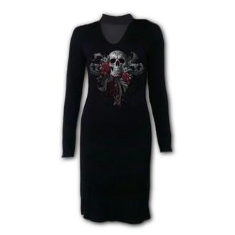 šaty dámske SPIRAL - SKULL ROSES, SPIRAL