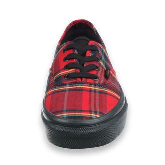topánky VANS - UA Authentic (PLAID MIX) - RED, VANS