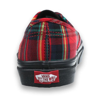 topánky VANS - UA Authentic (PLAID MIX) - RED