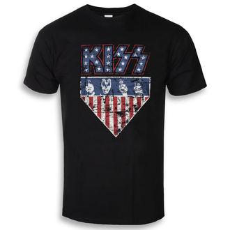 tričko pánske KISS - Stars & Stripes - Black - HYBRIS, HYBRIS, Kiss