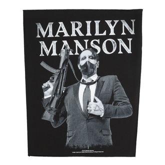 nášivka veľká Marilyn Manson - Machine Gun - RAZAMATAZ, RAZAMATAZ, Marilyn Manson