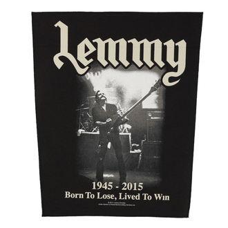 nášivka veľká Motörhead - Lemmy - Lived To Win - RAZAMATAZ, RAZAMATAZ, Motörhead