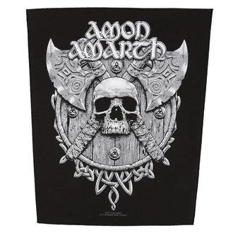 nášivka veľká AMON AMARTH - SKULL AND AXES - RAZAMATAZ, RAZAMATAZ, Amon Amarth