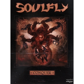 vlajka Soulfly \'Conquer 1\', HEART ROCK, Soulfly