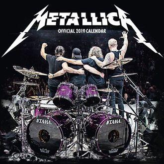 kalendár na rok 2019 - METALLICA, Metallica
