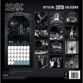kalendár na rok 2019 AC/DC, NNM, AC-DC