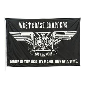 vlajka WEST COAST CHOPPERS - CROSS STATEMENT - BLACK, West Coast Choppers