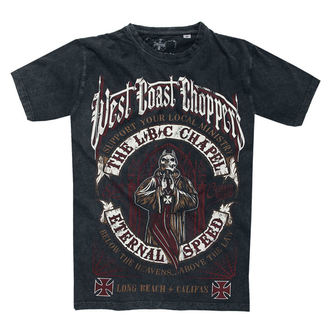 tričko pánske WEST COAST CHOPPERS - THE CHAPEL - Antrachite Vintage Black, West Coast Choppers