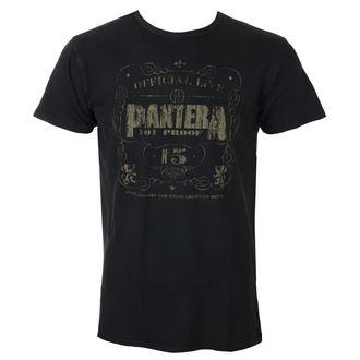 tričko pánske Pantera - 101% Proof Vintage - Black - ROCK OFF, ROCK OFF, Pantera