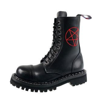 topánky STEADY´S - 10 dierkové - Pentagram red, STEADY´S