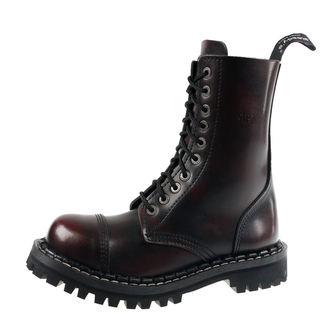 topánky STEADY´S - 10 dierkové - Bordo black, STEADY´S