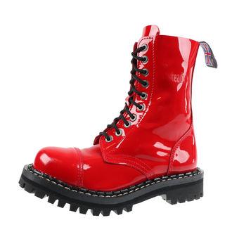 topánky STEADY´S - 10 dierkové - Glossy red, STEADY´S