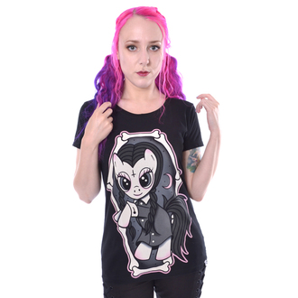 tričko dámske Cupcake cult - WEDNESDAY PONY - BLACK, CUPCAKE CULT