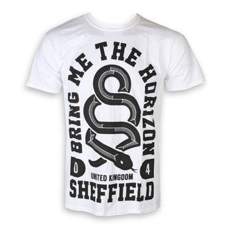 tričko pánske Bring Me The Horizon - Snake Men - White - ROCK OFF, ROCK OFF, Bring Me The Horizon