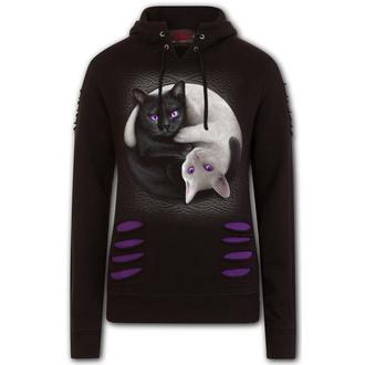 mikina dámska SPIRAL - YIN YANG CATS - Purple / Black, SPIRAL