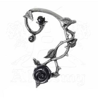 náušnice ALCHEMY GOTHIC - Black Rose Earwrap, ALCHEMY GOTHIC